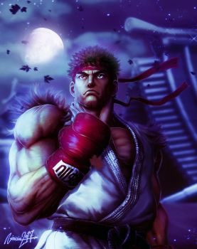 Ryu Street Fighter V Night version. by viniciusmt2007