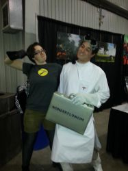 Captain Hammer and Doctor Horrible at SCEE 2014 by xayoz77