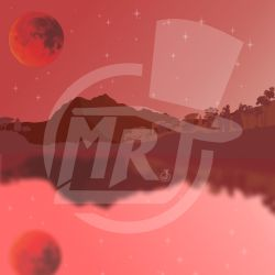Blood Moon and Mountain by MrJ-Jalius