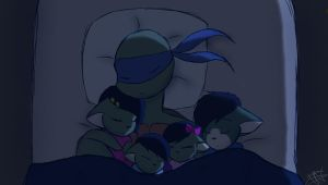 Sleeping with daddy by TammyWolfGirl