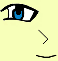 My First Anime Eye On The Comp by PrincessSeddie