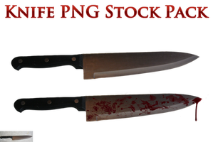 Knife PNG Stock Pack by KarahRobinson-Art