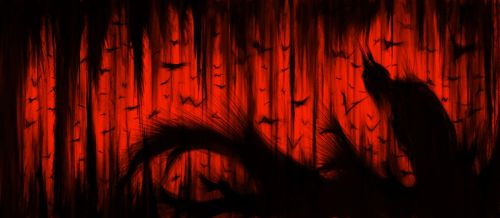 Batcave RED by Master-Futon