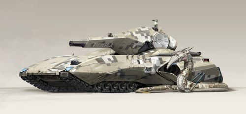 Infantry Support Tank by Abiogenisis