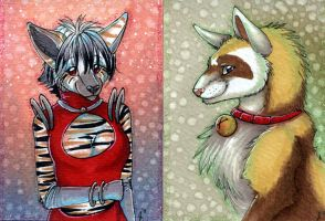 ACEOs: Danji and Bielle by Suane