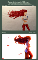 DRAW THIS AGAIN ! Red Beauty by DiamondMian