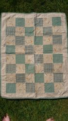 Old fashion green and brown baby blanket by TerraRavenBearheart