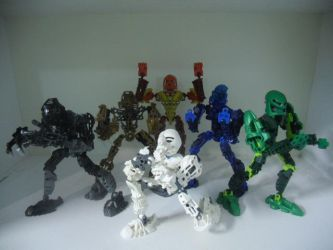 Toa Mata Does MMPR Poses by Eli-J-Brony