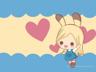 Funny Bunny - Wallpaper by Miss-Panettone