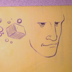 Doodle - Boxes and 3/4 Head Sketch by JaimeDL