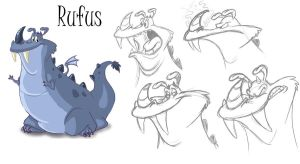 Rufus the Dragon by RobTariArt
