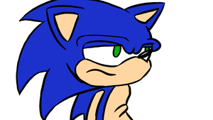 Sonic doing a thing or something I don't know by Stolken