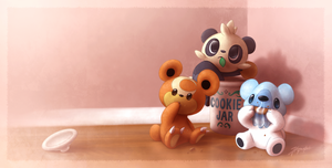 Cookie bandits by JA-punkster