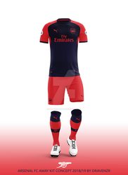 dravenSt0rM 0 0 Arsenal FC Away Kit 2018 19 Concept by Dravenzr by  dravenSt0rM f8a26ed25
