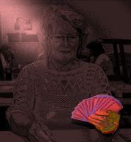 woman playing cards by schnuffibossi1
