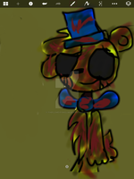 Golden freddy by TheFloweyfanclub