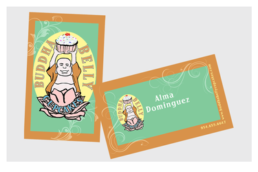 Business Cards - Buddha Belly Cupcakes by chorvath8