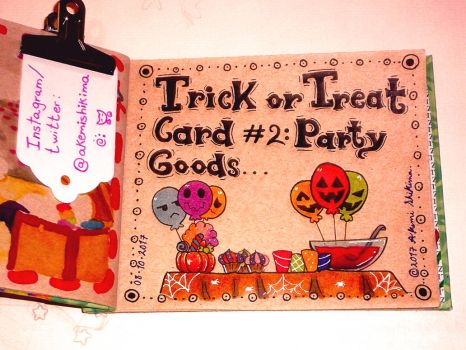 Trick or treat card #2: Party goods by ShikimaAkemi