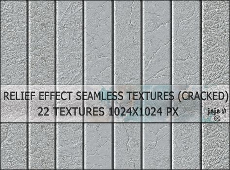 Relief effect seamless textures (cracked) by jojo-ojoj