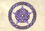 Purple Pentagram by spookyt5