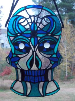 Blue Haven Sugar Skull by AigneadhAigeann