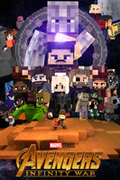 Avengers Infinity War Poster Minecraft by XerxesGWX