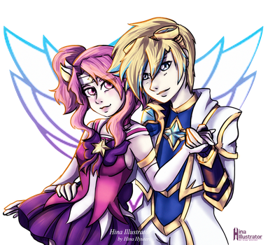 Lux and Ezreal StarGuardian by Ch4rLa-Hin4