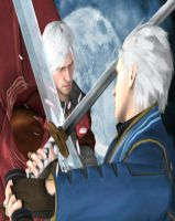 Dante vs Vergil DMC$SE wallpaper by Hatredboy
