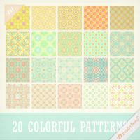 Patterns 27 - Sweet Colorful Patterns Set by Ransie3