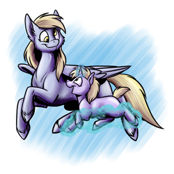 Flying with mom by Foxenawolf