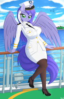 Captain Mariah on her ship by Ziemniax