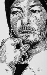 Norman Reedus 5 by X-Enlee-X