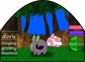 Doru|male|chingling/goomy/munna by millemusen