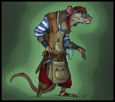 Redwall. Treasure Island. Chewrat What-the-Mouse. by FortunataFox