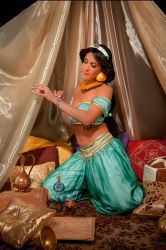 Jasmine preparing for her date with Aladdin by NatIvy