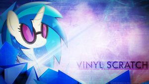 Vinyl Scratch Wallpaper (Collab with Kibbie) by VisualizationBrony