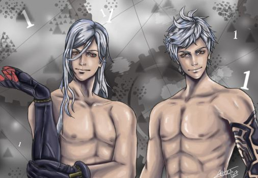 Adam and Eve Nier drawing by aprilelvidge