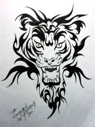 tiger tattoo design by XagroS