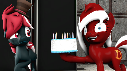 [SFM Ponies] Birthday Gift - WHO WANTS SOME CAKE!? by FD-Daylight