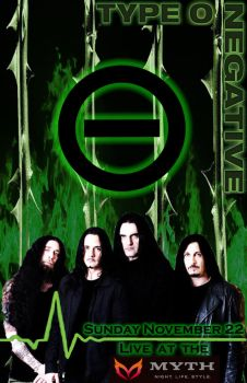 Type O Negative Concert Poster by Nocxus