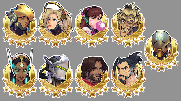 Overwatch stickers by GalooGameLady