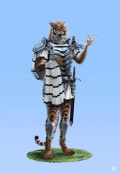 Tiger the chief of guard by AndanteSen