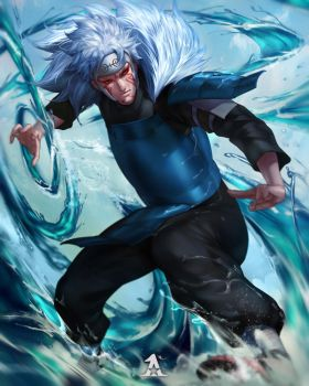 Tobirama Sage Mode! by Artipelago