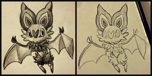 Noibat Doodles by ZenfulChaos