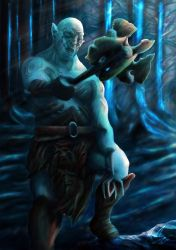 Azog in the moonlight by No1Stexi