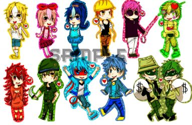 Happy Tree Friends Keychains by Shu-Ai