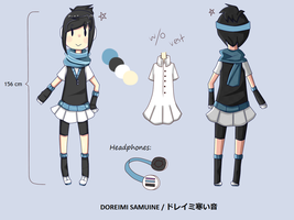 UTAU Samuine Doreimi - Reference Sheet by Chocoelats