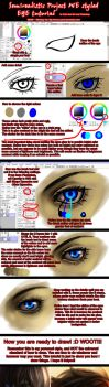 Semirealistic Eye Tutorial by yuumei