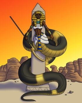 Meretseger the Cobra Guardian by TyrannoNinja