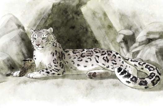Placido and the Snow Leopard by Vanzkie